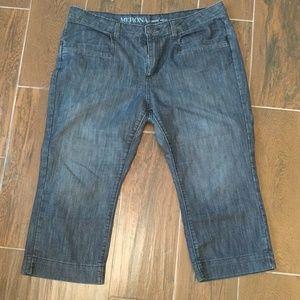 Merona Mid Rise cropped jeans sz 18